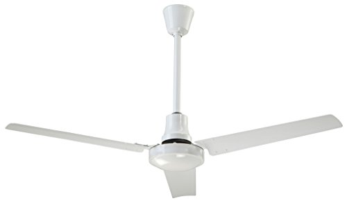 Canarm White Variable Speed & reversible 60 Inch Industrial Ceiling Fan 46000 CFM CP60HPWP ()