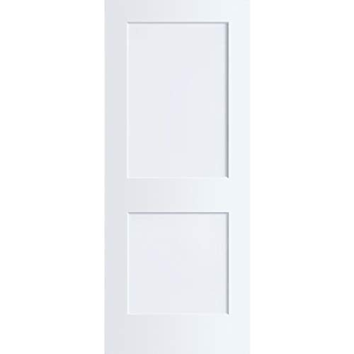 - 2-Panel Door, White Primed Shaker, Solid Wood Core, 80 in. x 1-3/8 in. (30x80)