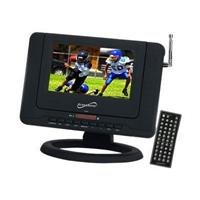 Supersonic SC-491 7 Portable TV With DVD Player, ATSC Tuner, USB, SD Card Reader & Rechargeable Battery