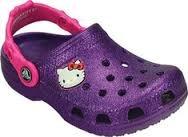 crocs Hello Kitty Glitter NA Clog (Toddler/Little Kid),Neon Purple,12 M US Little Kid