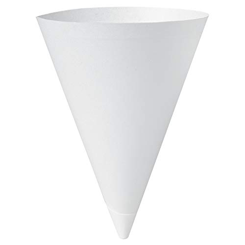 7 Ounce White Pack - Solo 156-2050 7 oz White Paper Cone Cups (Case of 5000)