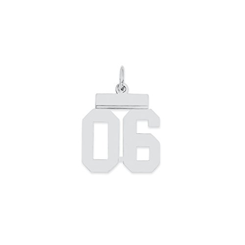 925 sterling silver small number 06 top