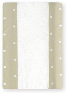 Bimbi Romantic–Wickelunterlage,, 50x 80cm, weiß und Leinen 50x 80cm weiß und Leinen Coimasa