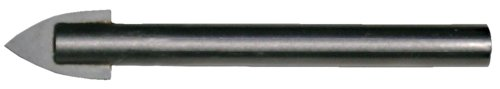 Cle-Line C20718 Glass and Tile Carbide-Tipped Specialty Drill, High Speed Steel with Carbide Tip, Bright Finish, Straight Shank, 60-Degree Radial Point, 1/8