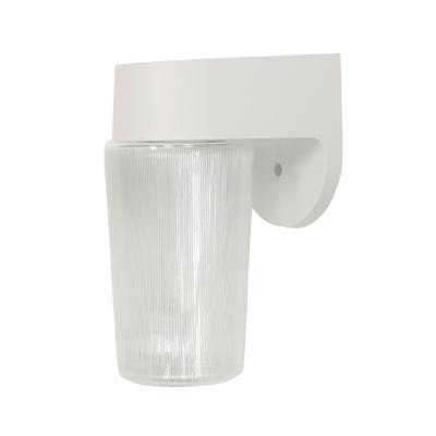 Sunlite ODF1050 5-Inch On/Off Fluorescent Wall Mount Jar Outdoor Fixture with Lamp White Finish with Frosted Glass