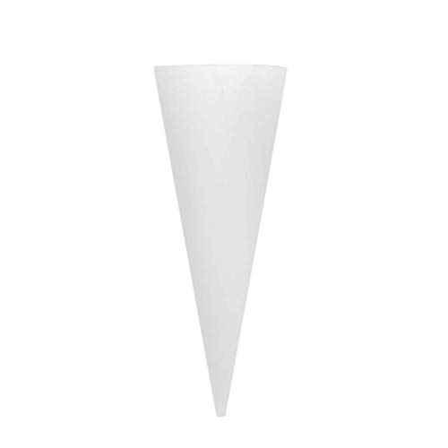 CDKJ Vase Clear Glass Cone Shaped Wall Bracket for Plant Flowers (Cone Glass Shaped)