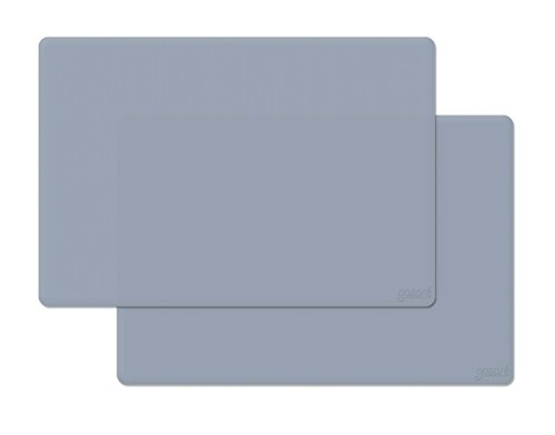 gasare, Extra Large, Extra Thick, Silicone Mats, Counter Mat Protector, Heat Resistant, 25 x 17 Inches x 1.4 mm, Set of 2, Grey