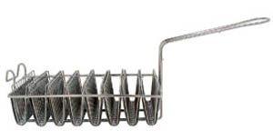 NEW, 8-Mold, Taco Shell Fry Basket, Tostada Shell Fr Basket, Deep-Fryer Basket