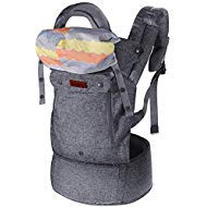 Lictin Baby Carrier for Newborn - Baby Carriers Front and Back, Breathable Adjustable Ergonomic Baby Backpack Carrier for Infant up to 33 lbs/ 15 kg, Gray from Lictin