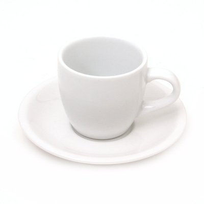 Demitasse Cup & Saucer - Vertex 3.5 Oz. - Ounce 3.5 Porcelain