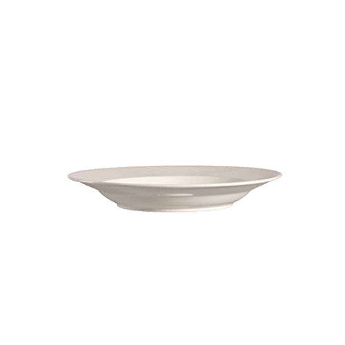 CAC China REC-121 Rolled Edge 18-Ounce American White Stoneware Round Pasta Bowl, 12 by 12 by 1-3/4-Inch, 12-Pack by CAC China (Image #1)