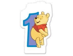 Winnie the Pooh 'Alphabet' 1st Birthday Cake Candle (1ct)