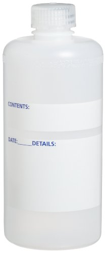 Bel-Art Write-On 500ml (16oz) Polyethylene Bottles; Polypropylene Cap, 28mm Closure (Pack of 12) (F10660-0500)