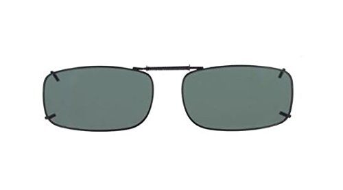 Cocoons Polarized Clip-on Rectangle 15 L4188G Rectangular Sunglasses, Gunmetal, 54 - On Cocoon Clip Sunglasses