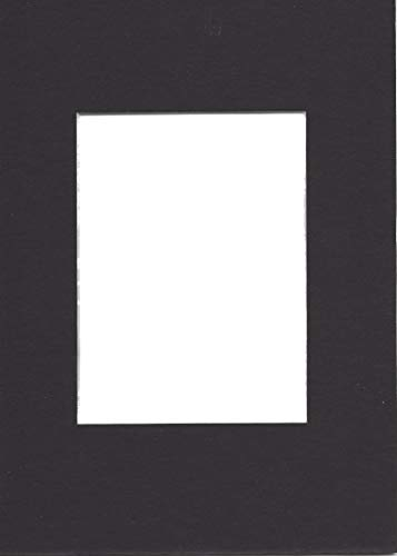 Pack of 10 5x7 Black Picture Mats with White Core Bevel for sale  Delivered anywhere in USA