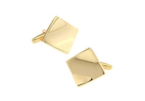 Daesar Cufflink Set for Men Cufflinks for Tuxedo Geometric Gold Cufflinks Personalized