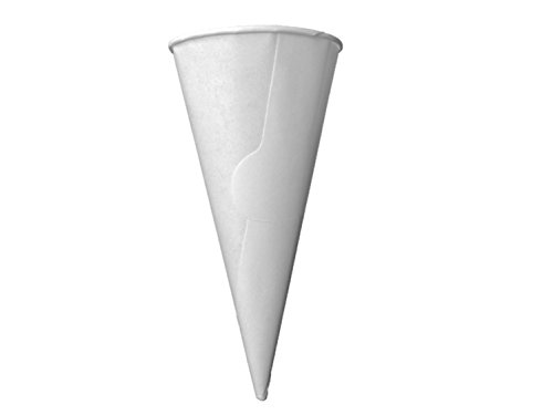 Dot Red - 50ct Large Sugar Cone Paper Jackets - Recyclable - Rolled Rim Ice Cream Waffle Cone Jacket