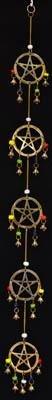 (Long Pentagram Wind Chime 32