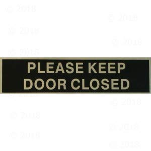 2 x 8 Please Keep Door Closed Peel & Stick Sign (12 ()
