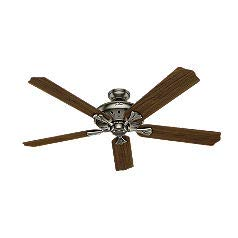 Hunter 54017 The Royal Oak 60-Inch Antique Pewter Ceiling Fan with Five Walnut/Chestnut Blades