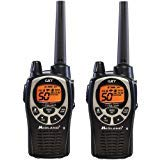 Midland 36-Mile 50-Channel FRS/GMRS Two-Way Radios, NOAA Weather Alert Radio, and 10 Call Alerts, with SOS Siren, JIS4 Waterproof, and Hi/Med/Lo Transmit Power Settings, Black/Silver Finish