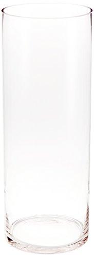 WGV Clear Cylinder Glass Vase, 6 by 16-Inch (Cylinder Vase 16 Inch)