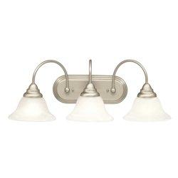 Kichler Lighting Telford Collection 3-light Brushed Nickel Bath/Vanity Light - Kichler Lighting Telford Bath Vanity