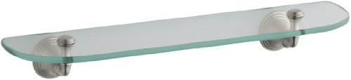 KOHLER K-10563-BN Devonshire Glass Shelf, Vibrant Brushed Nickel (Discounted Bathroom Accessories)