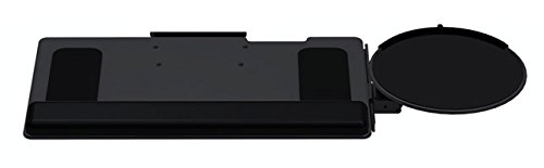 Clip Mouse Keyboard System with 5G Arm High Clip Mouse: 8.5'' Mousing Surface, Synthetic Leather Palm Support: Gel Core