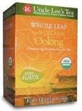 Uncle Lee's Tea Oolong Tea Whole Leaf Organic -- 18 Tea Bags