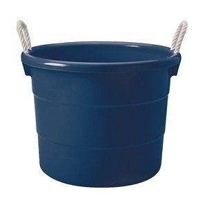 Storage Tub W/ Rope Handles, 18 Gal, Navy