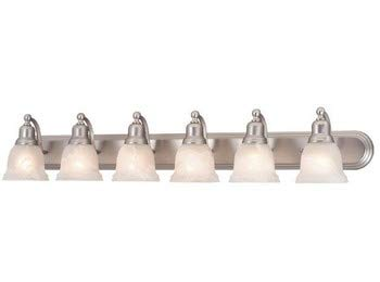 Vaxcel LS-VLD106BN Lasalle 6 Light Vanity Light, Brushed Nickel Finish