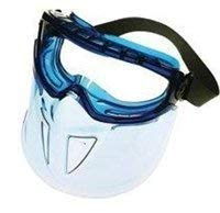 Jackson Safety V90 Shield Clear Anti Fog Lens Protection Goggle with Blue - Clear Xtr Lens