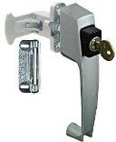 National Hardware V1317 1-3/4-Inch Screen/Storm Door Keyed Pushbutton Latch