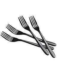 Vababa 16-Piece Black Dinner Forks, Stainless Steel