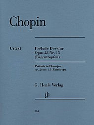 Chopin Preludes Piano - G. Henle Verlag Prelude D Flat Major Op. 28. No. 15 (Raindrop) Piano By Chopin