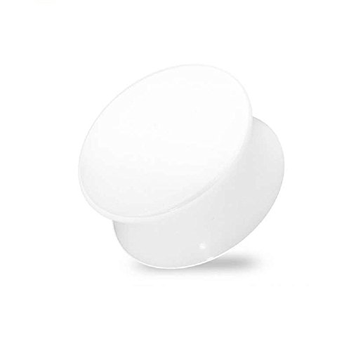 (Freedom Fashion Solid Acrylic White Saddle Plug (Sold by Pair) (1 1/4
