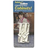 Safety 1st Child Proof Your Cabinets! 4 Cabinet & Drawer Latches