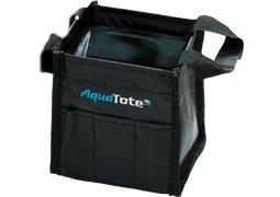 Creative Mark Aqua Tote Folding Water & Brush Holder - Aqua Tote Bag for Artists Re-useable, Folds Flat, Won't Leak, Holds Plenty of Water and Brushes - [Mega Aqua Tote - Black]