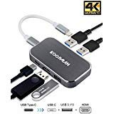 Dex Station for Samsung, Koopman USB Type C to HDMI(4k@60Hz) Hub Adapter for Galaxy Note 9/Note8/S8/S8+/S9/S9 Plus, MacBook Pro 2016/2017/2018, Nintendo Switch, iPad Pro 2018, ChromeBook, XPS and More