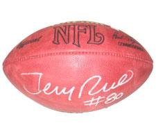 Jerry Rice Autographed Football - NFL Tagliabue Game Model Football with Jerry Rice Hologram Autographed Nfl Game Football