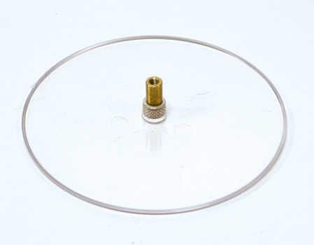 Creative Hobbies 4.5 Inch Round Clear Plastic Turntable for Wind Up Music Boxes, Pack of 5 ()