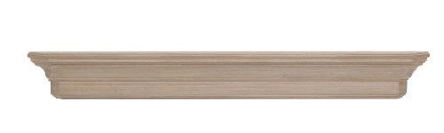 (Pearl Mantels, Inc. Pearl 490-72 Lindon Wood Fireplace Mantel Shelf, 72-Inch, Unfinished)