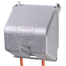 Thomas & Betts 2CKSG Duplex Single 2 Gang Receptacle Gfci In Use Wet Location Cover, 1 '' x  1 '' x  1''