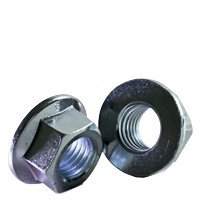 M10 x 1.50 Coarse DIN 6923 ISO 4161 Class 8 Hex Flange Nut Zinc Plated
