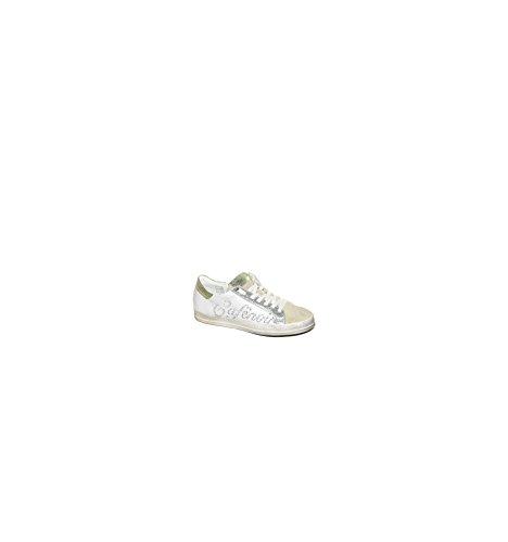 Verde Bianco Logo Zapatillas Cordones Mujer Bajos 244 y Caf Noir Zapatos DC134 Blanco tSOAqO