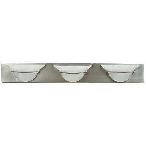 new Craftmade 17136BN3 Vanity Light with Alabaster Swirl Glass Shades, Nickel Finish