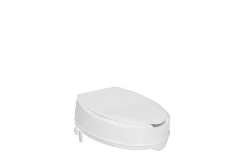 PREMIUM Toilettensitzerhöhung / Toilettensitz mit Deckel - Toilettenaufsatz für den professionellen Pflegeeinsatz