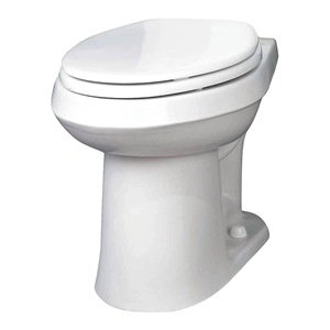 Gerber Plumbing VP-21-528 Gerber Viper Watersense High-Efficiency Elongated Siphon Jet Toilet Bowl, Ada-Compliant, 1.6 Gpf/1.28 Gpf, White - 2463449 (Ada Compliant Elongated Bowl)
