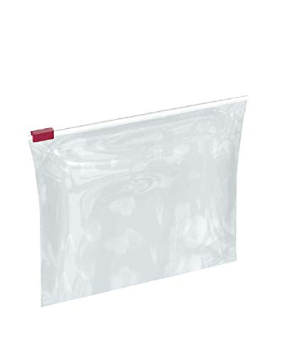 APQ Pack of 100 Slider Zip Lock Bags 6.5 x 6. Clear Poly Bags 6 1/2 x 6. FDA Approved, 3 mil. Polyethylene Bags for Packing and Storing. Plastic Bags for Industrial, Food Service, Healthcare Needs. from APQ Supply
